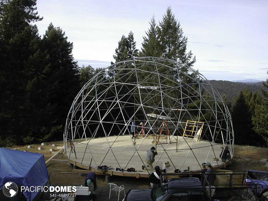 dome frame setup