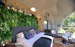 dome with mobile green wall