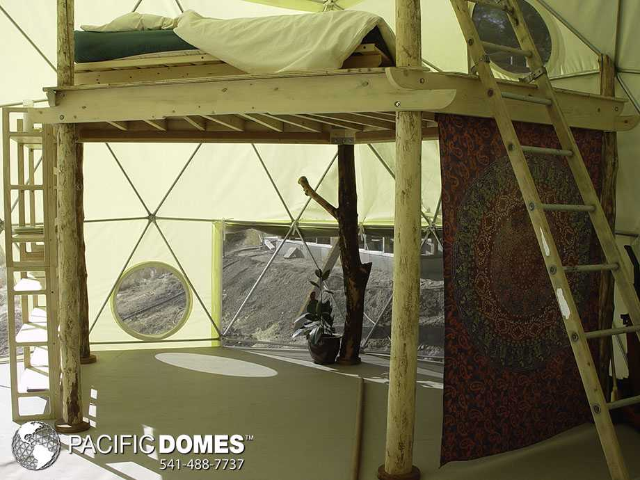 geodesic dome with loft