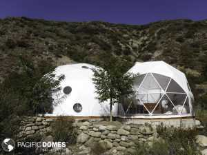 Connecting Geodesic Domes