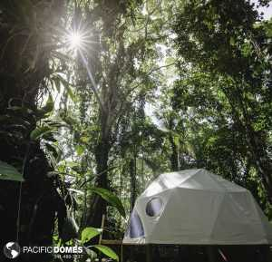16-ft. dome at Faith Glamping Costa Rica