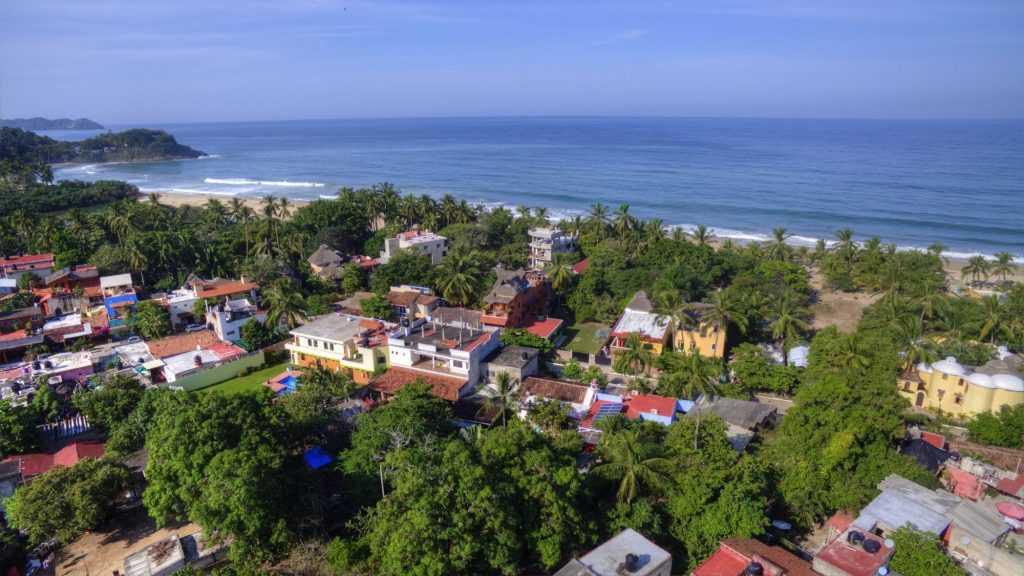 San Pancho Mexico Coastline