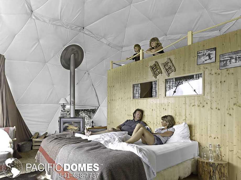 White Pod Dome Interior