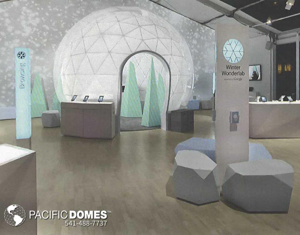 Google Winter WonderLab Dome