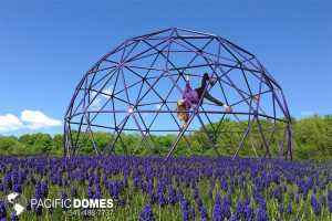 Powder coated playground climbing dome