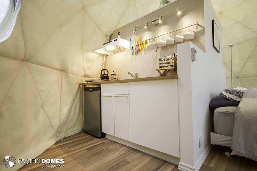 Ridgeback Glamping Dome Kitchen