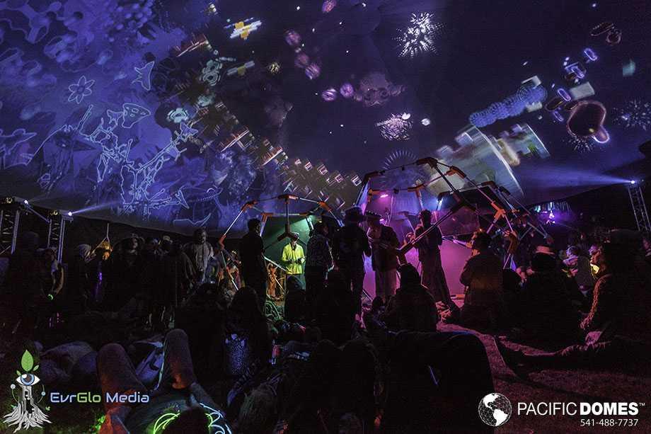 VR dome at Eclipse Festival 2017, OR, USA