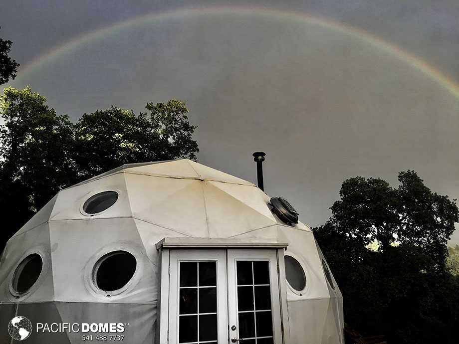 dome with rainbow