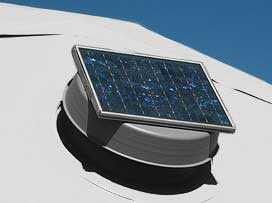 Dome Solar Fan