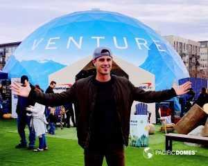 Ben Higgins, in front of Destination Venture Projection Dome