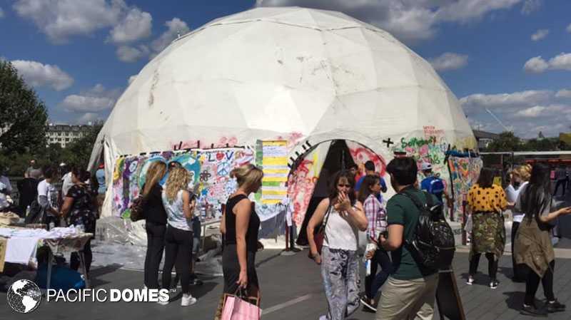 relief dome, theater dome, event dome