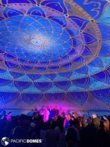 360 projection dome, projection dome, projection mapping