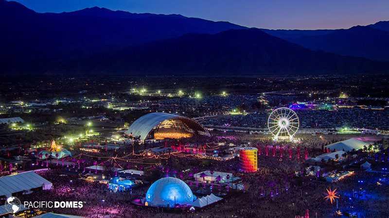 Coachella, pacific domes, 360 projection dome, event dome, music festival dome