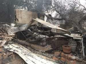 Burned house and barn
