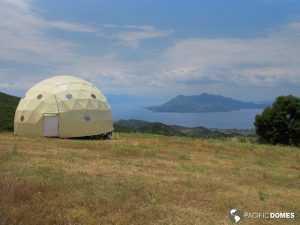 yoga dome, eco village, stewardship