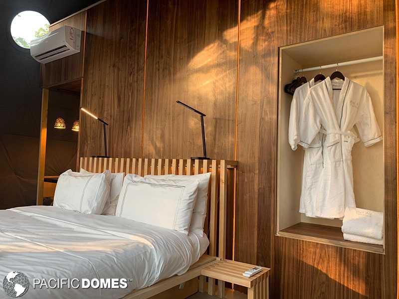 dome interior design, dome glamping, dome loft