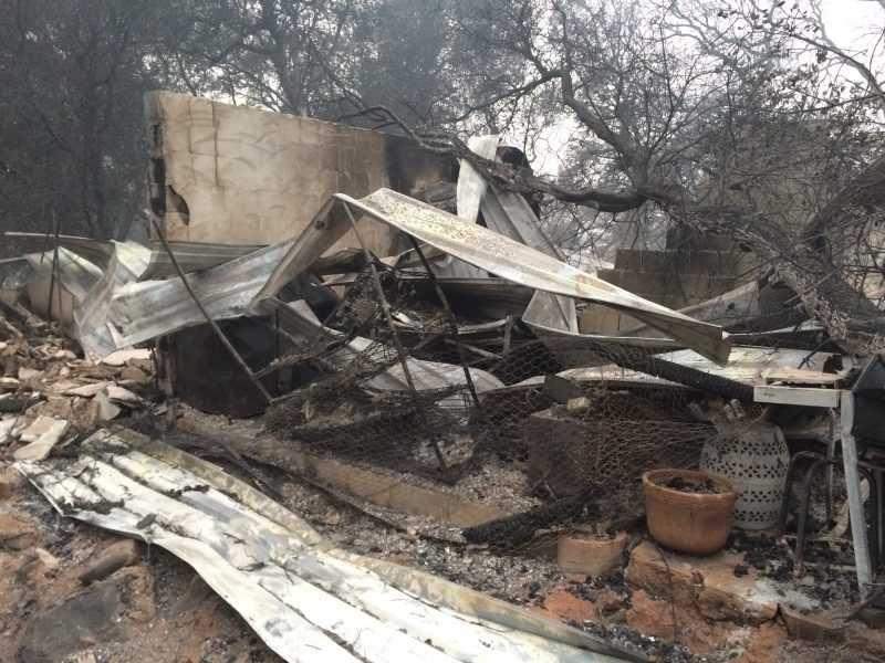 Turkey Tail Farmhouse burn