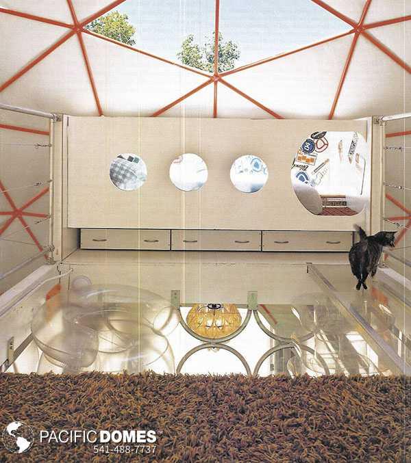 44ft Dome Home Interior