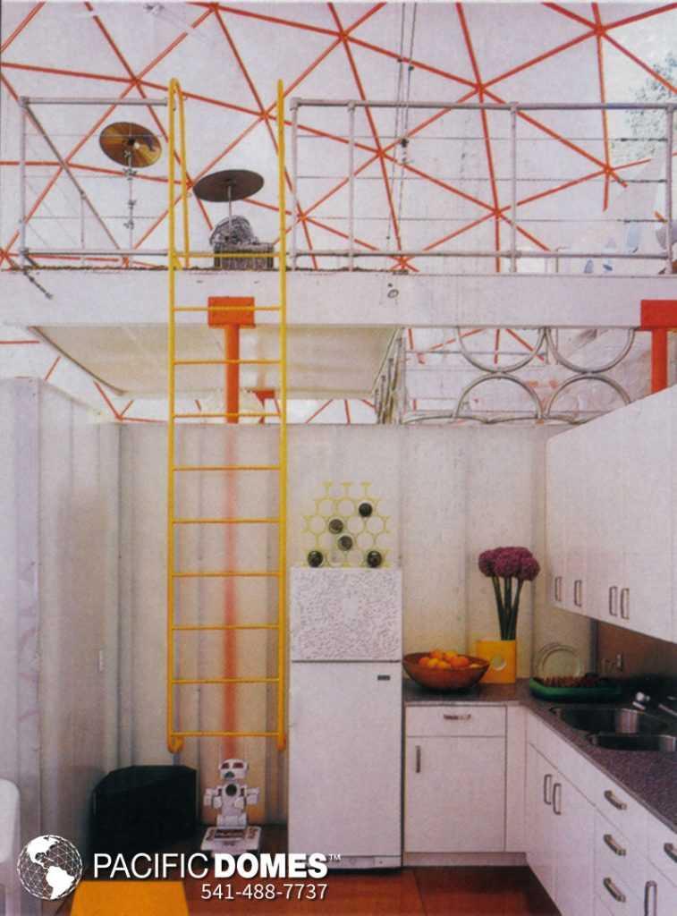 44-ft Dome Home Interior