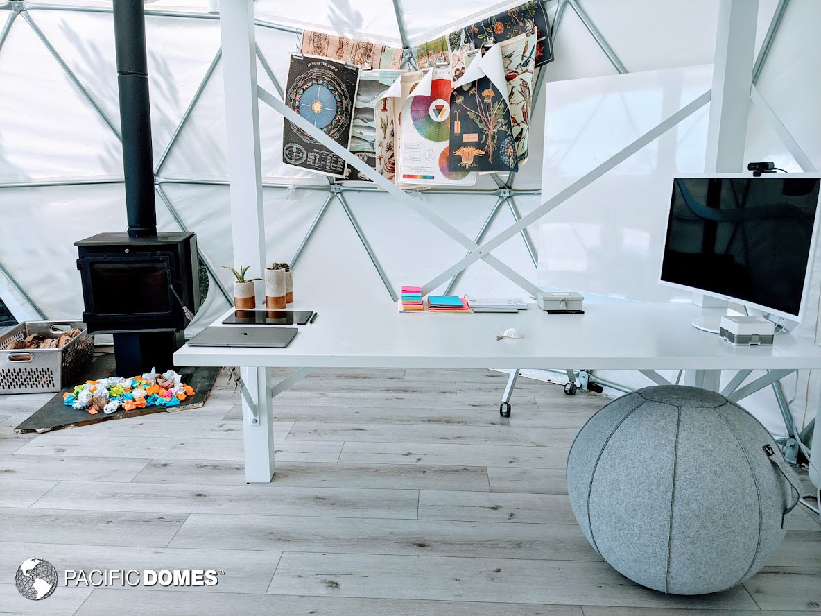 backyard dome, dome, DYI dome, office dome, dome office