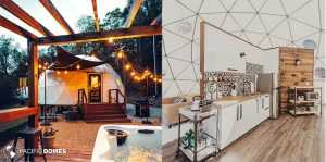 dome homes, glamping domes, dome glamping