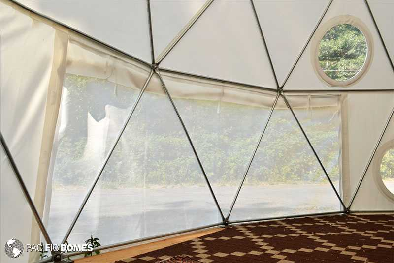 Dome ventilation screens