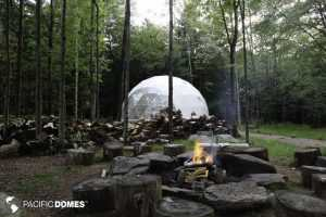 wedding in a geodesic dome, pacific domes, domes, dome wedding