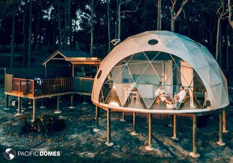 glamping, dome glamping, dome