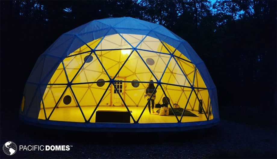 event dome, geodesic wedding dome