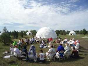 Crest 13 Dome Ecovillage Gathering