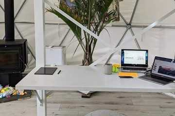 Work-from-Home Studio Office in a geodesic dome