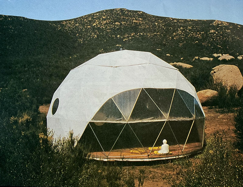 First geodesic dome tent