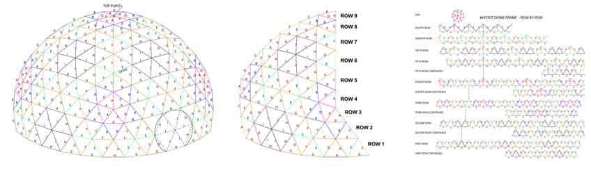 Dome Frame Diagrams