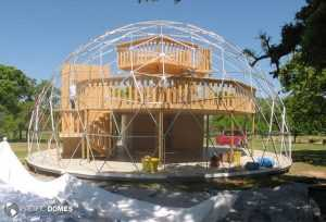dome frame with loft structure