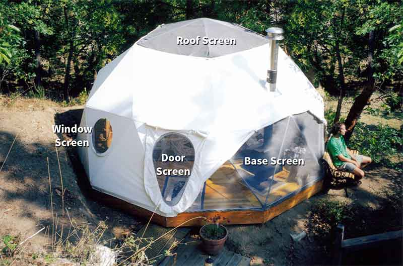 Dome Screens for Ventilation