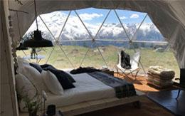 Glamping Dome Interior
