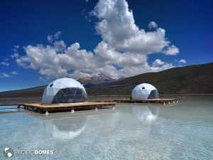 glamping dome, dome home, shelter dome