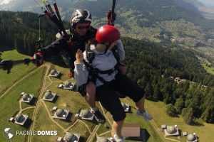 paragliding at Whitepod Hotel