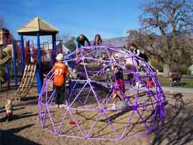 Playground Climbing Domes