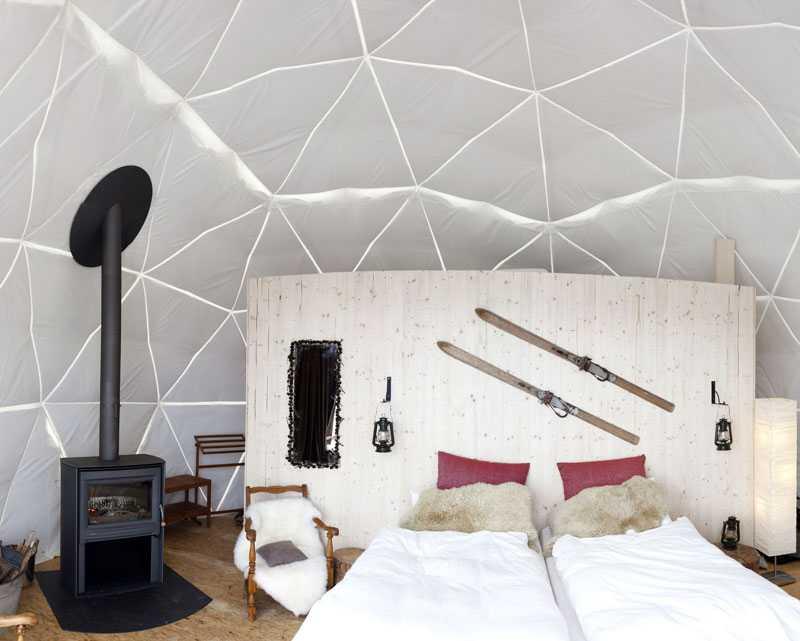 Whitepod Dome Interior