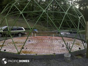 Radiant Floor Install in a 30' Dome Frame