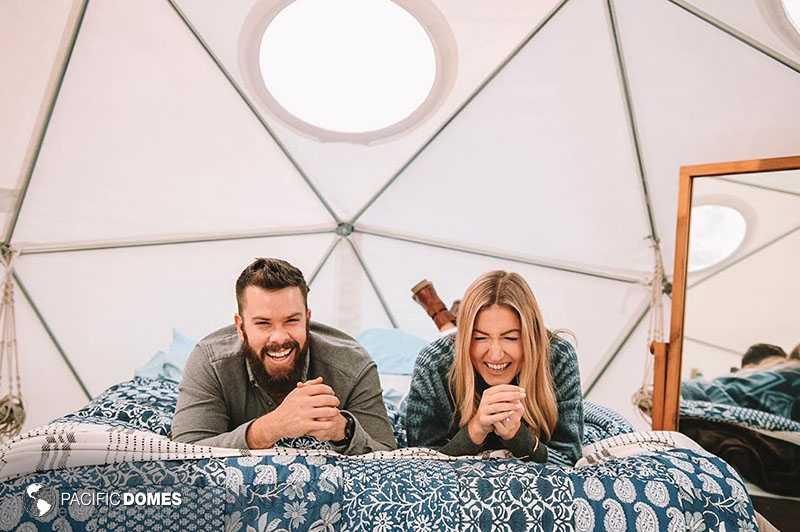 Couple enjoying dome home living