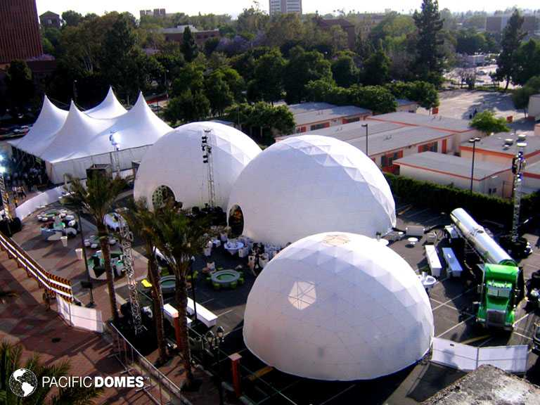 3 Geodesic Event Domes