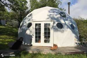 Dome home with pre-hung doors