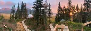 Glamping Domes - rewilding in Alaskan wilderness