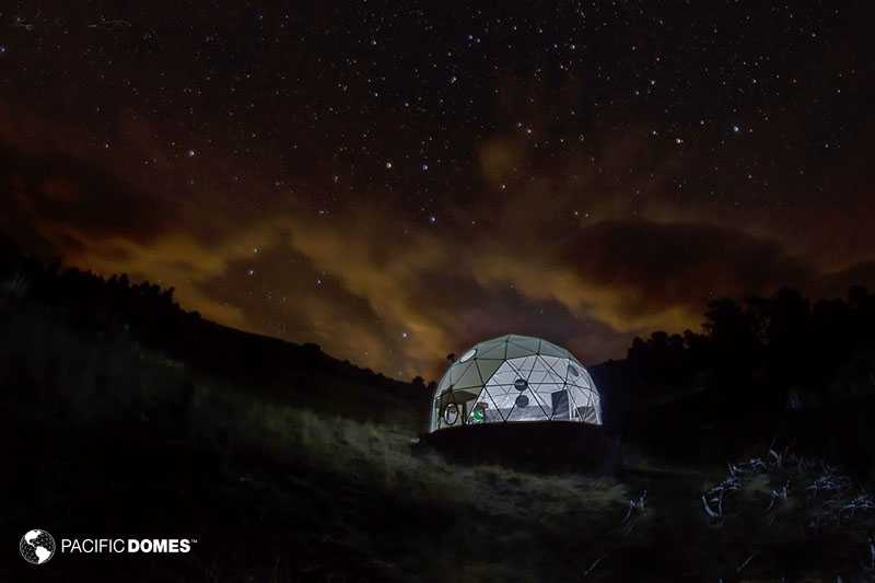 Mission Wolf Dome Observatory Dome under night skies