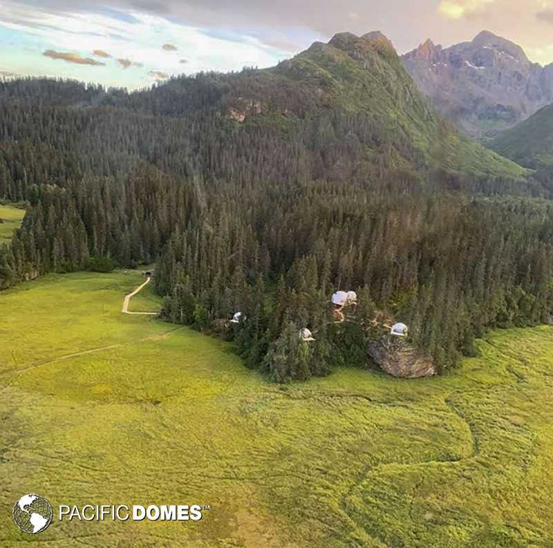 Glamping Domes - Alaskan rewilding safari
