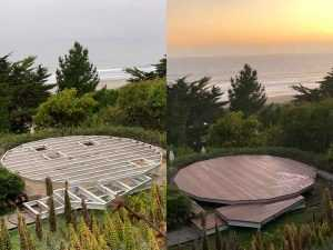 Geodesic Dome deck-floor install