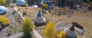 Mission Wolf Lodge, - dome and tipi camp