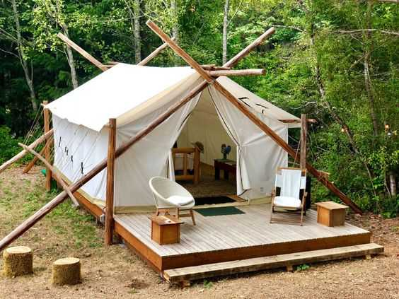 A-Frame Canvas Cabin Tent
